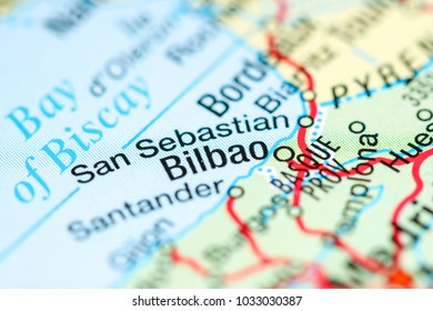 Bilbao On Map Of Spain.Bilbao Map Stock Photos Images Photography Shutterstock