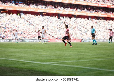 BILBAO, SPAIN - SEPTEMBER 18: Markel Susaeta, Bilbao player, during the match between Athletic Bilbao and Valencia CF, celebrated on September 18, 2016 in Bilbao, Spain