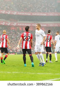 BILBAO, SPAIN - SEPTEMBER 23: Pepe in the match between Athletic Bilbao and Real Madrid, celebrated on September 23, 2015 in Bilbao, Spain
