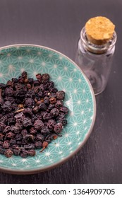 Bilberry, blue huckleberry detail, healthy fruit naturopathy
