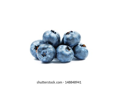 bilberry isolated on white background