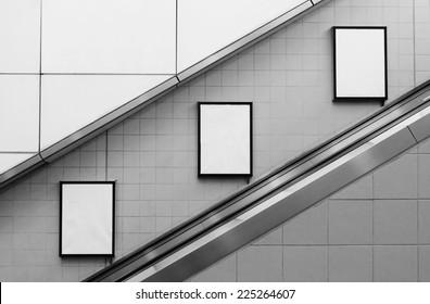 bill board ads at escalator side