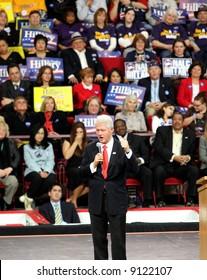 Bill Clinton campaigning for his wife Hillary Clinton in Denver, Colorado