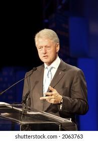 Bill Clinton speaking in Chicago