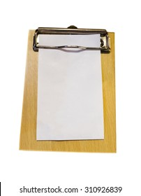 Bill money wood tray white paper blank