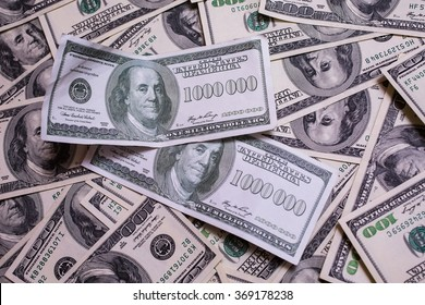 bill of one million dollars, a new brilliant idea, a million dollars, the thirst for wealth, success, get rich millionaire, background of the money,background of dollars, old hundred-dollar bill face