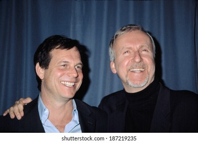 Bill Paxton and James Cameron, at the GHOSTS OF THE ABYSS premiere, NYC, 4/9/2003
