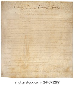 The Bill of Rights. The first ten amendments to the US Constitution were adopted by the House of Representatives on August 21 1789 and ratified December 15 1791.