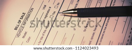 bill sale formal document detailing writing stock photo edit now