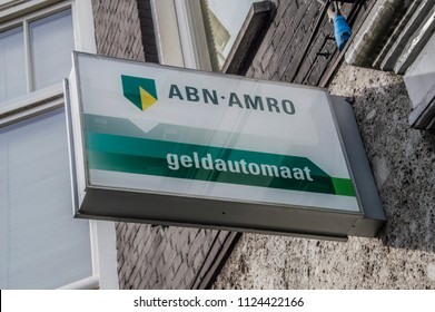 Billboard From An ABN-AMRO Bank ATM At Amsterdam The Netherlands 2018