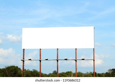 billboard or advertising board  on beautiful blue sky with cloud for advertising,business,marketing,commercial,nature,peace,dream,go green,eco related concept