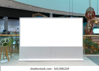 billboard or advertising poster with empty copy space at Department store.