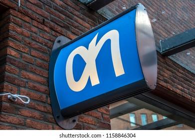 Billboard AH Supermarket At Amsterdam The Netherlands 2018Billboard AH Supermarket At Amsterdam The Netherlands 2018