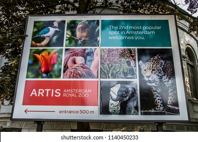 Billboard From The Artis Zoo At Amsterdam The Netherlands 2018