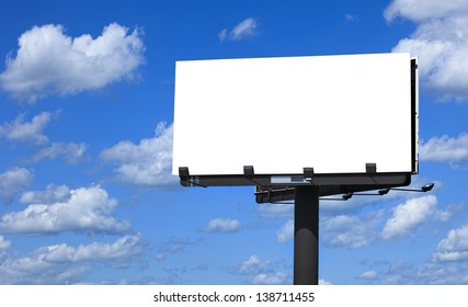 Billboard with background Cloudy Sky