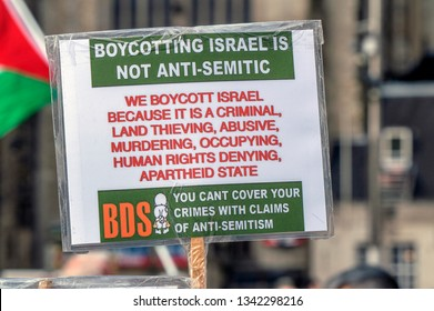 Billboard From The BDS Organization At Amsterdam The Netherlands 2019