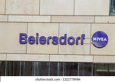 Billboard Beiersdorf At Amsterdam The Netherlands 2019
