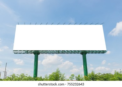 billboard blank on road in city for advertising background.