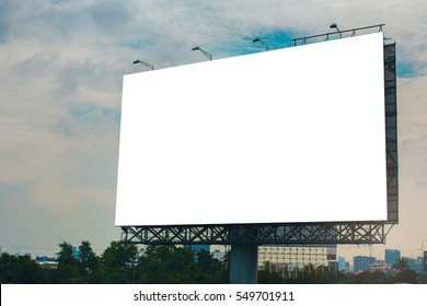 billboard blank for outdoor advertising poster or blank billboard at night time for advertisement.
