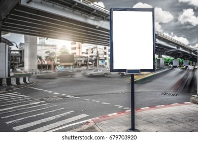 billboard blank for outdoor advertising poster or blank billboard at day time for advertisement.
