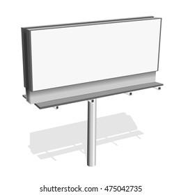 Billboard blank | Billboard template 3d illustration isolated on white