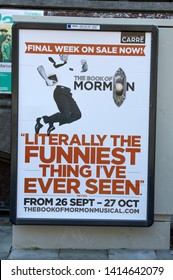 Billboard The Book Of The Mormon At Amsterdam The Netherlands 2019