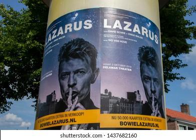 Billboard David Bowie Lazarus Musical At Amsterdam The Netherlands 2019