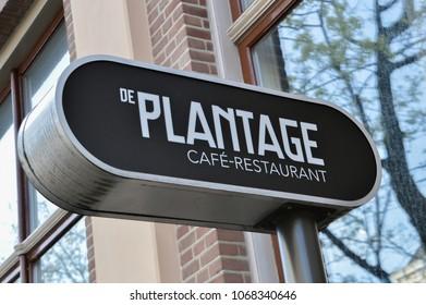 Billboard De Plantage Restaurant-Cafe At Amsterdam The Netherlands 2018