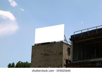 Billboard empty on sky