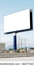 Billboard free space very big and Traffic Barrier on the road