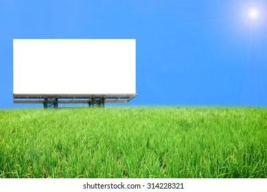 billboard in the green field