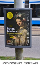 Billboard From The Hermitage Museum The Dutch Masters Exhibition At Amsterdam The Netherlands 2018