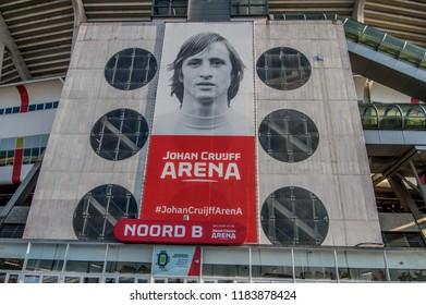 Billboard At The Johan Cruijff Arena Stadium At Amsterdam The Netherlands 2018