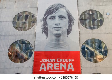 Billboard At The Johan Cruijff Arena Stadium At Amsterdam The Netherlands 2018