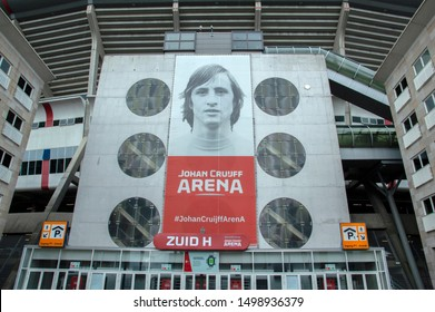Billboard At The Johan Cruijff Arena Stadium At Amsterdam The Netherlands 2019