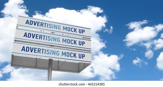 Billboard mock up. 3D illustration