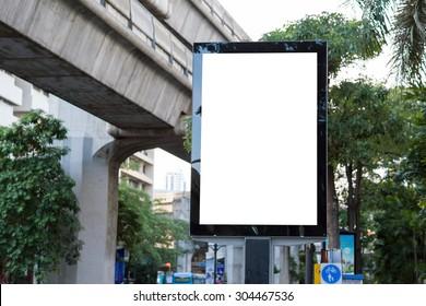 Billboard mockup on street