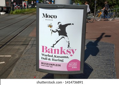 Billboard Moco Museum Bansky Exhibition At Amsterdam The Netherlands 2019