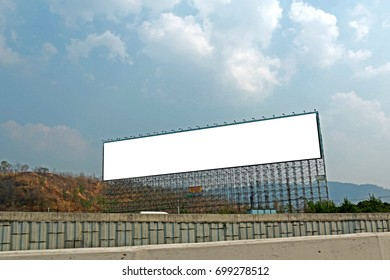 The billboard near the road