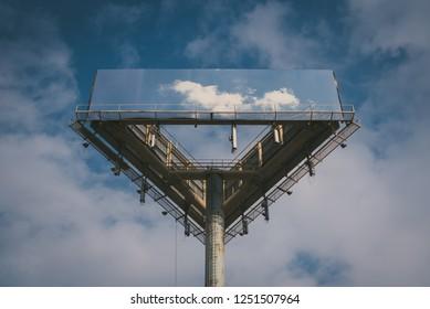 Billboard in Old City, Philadelphia, Pennsylvania.