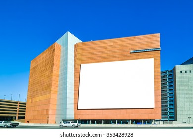 billboard on the building.
