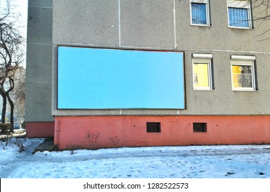 Billboard on the house wall