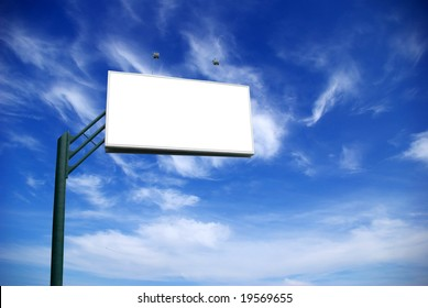 billboard on  sky