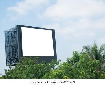 billboard on sky background,