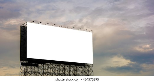 Billboard on sky and clouds background.copy space.