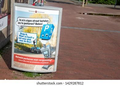 Billboard Paid Parking At Amstelveen The Netherlands 2019