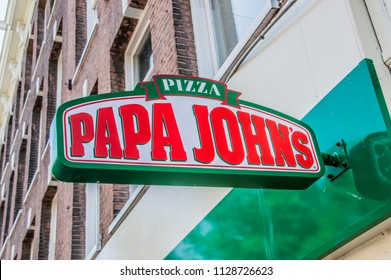 Billboard From Papa John's At Amsterdam East The Netherlands 2018