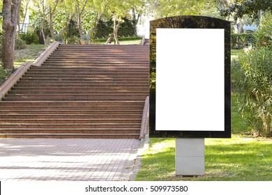 Billboard in the park