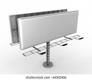 Billboard with place for your text - 3d render