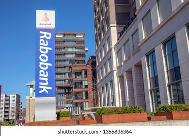 Billboard Rabobank At The Parktoren Building At Amsterdam The Netherlands 2019